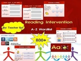 Reading Intervention 800+ Word List A-Z with Menu RF 4.3