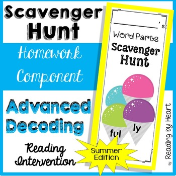 Decoding Multisyllabic Words SCAVENGER HUNT SUMMER Reading Intervention