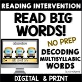 Decoding Multisyllabic Words INDEPENDENT READING MATS Reading Intervention
