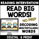 Decoding Multisyllabic Words INDEPENDENT READING DECODE-A-WORD MATS