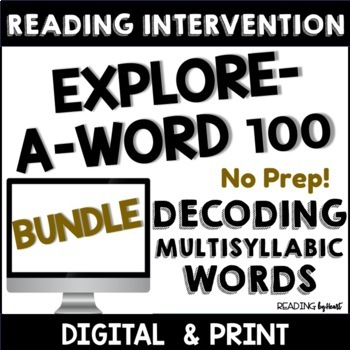 Decoding Multisyllabic Words WORK PAGES Reading Intervention