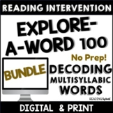 READING INTERVENTION BINDER Decoding Multisyllabic Words DISTANCE LEARNING