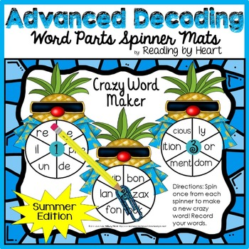 Decoding Multisyllabic WORD PARTS CREATE-A-WORD SPINNER MAT SUMMER Intervention