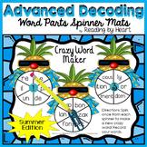 Decoding Multisyllabic WORD PARTS CREATE-A-WORD SPINNER MAT SUMMER Intervention