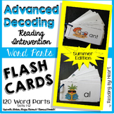 SUMMER READING Decoding Multisyllabic Words WORD PARTS FLASHCARDS