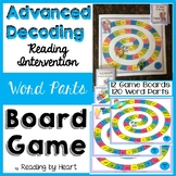 SUMMER READING Decoding Multisyllabic Words WORD PARTS GAME BOARDS