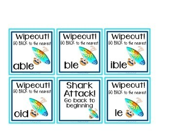 Decoding Multisyllabic Words WORD PARTS GAME BOARDS SETS 1-12