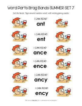 Decoding Multisyllabic Words WORD PARTS BRAG BANDS SUMMER READING Intervention