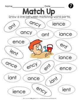 SUMMER READING Decoding Multisyllabic Words MATCHING WORD PARTS PRINTABLES