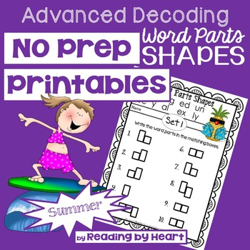 Decoding Multisyllabic Words WORD PARTS SHAPES SUMMER PRINTABLES Intervention