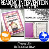 Distance Learning Reading Intervention Binder - No Prep
