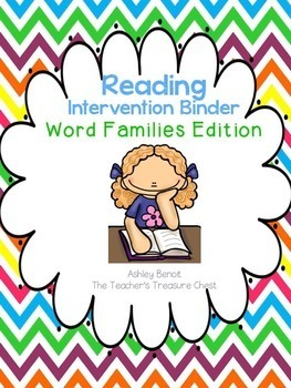 Reading Intervention Binder Word Families Edition