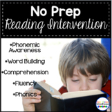 Reading Intervention Program- No Prep Curriculum