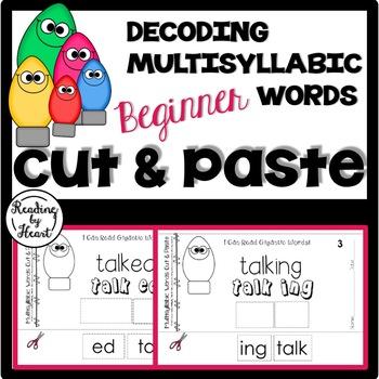 Reading Intervention Decoding Multisyllabic Words Cut & Pa
