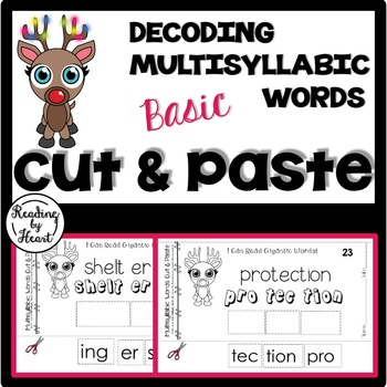 Reading Intervention Decoding Multisyllabic Words Cut & Pa