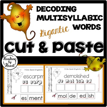 Reading Intervention Decoding Multisyllabic Words Cut & Paste November Leaves