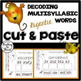 Decoding Multisyllabic Words CUT & PASTE NOVEMBER LEAVES Reading Intervention