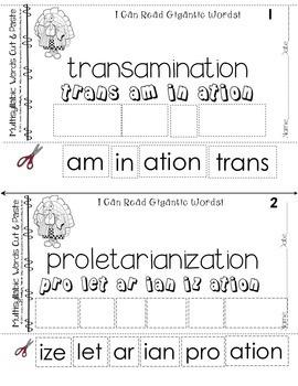 Decoding Multisyllabic Words CUT & PASTE NOVEMBER CHALLENGEReading Intervention