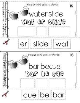 Decoding Multisyllabic Words CUT & PASTE SUMMER WORDS Reading Intervention