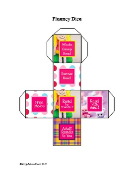Reading Intervention Dice: Reading Fluency and Comprehension, Girl Themed