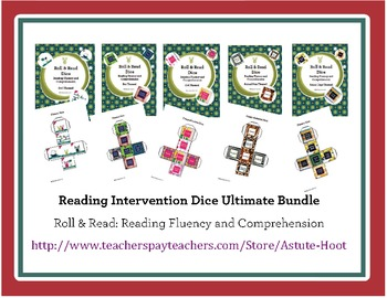 Reading Intervention Dice Ultimate Bundle