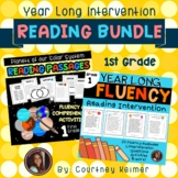 Reading Intervention First Grade Year Long Bundle (Fluency & Comprehension)