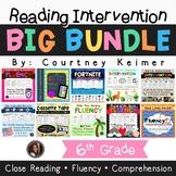 Reading Intervention Fluency & Comprehension Big Bundle {Grade 6}