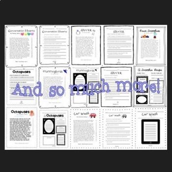 Reading Intervention Fourth Grade Year Long Bundle (Fluency & Comprehension)