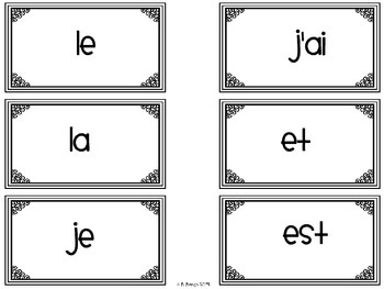 {Reading Intervention} French High Frequency words for beginning readers