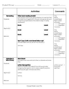 Reading Intervention Lesson Plan Template By Bless This Teachers Mess - Reading intervention lesson plan template