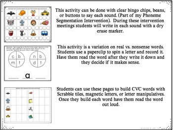 Reading Intervention MADE EASY: CVC Words