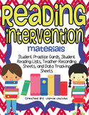 Reading Intervention Materials