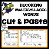 Decoding Multisyllabic Words CUT & PASTE HALLOWEEN #2 Reading Intervention