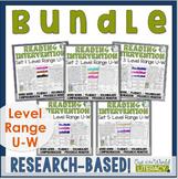 Reading Intervention Program-Bundle for all Sets in U-W Level Range