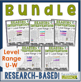 Reading Intervention Program-Bundle for all Sets in U-W Level Range