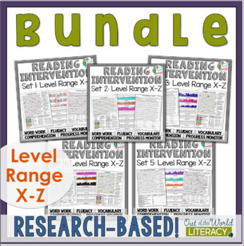 Reading Intervention Program-Bundle for all Sets in X-Z Level Range