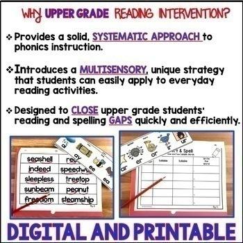 Reading Intervention Program, Phonics Intervention Program, Upper Grades, Bundle