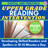 Word Study-Reading Intervention for Upper Elementary-Ideal for School or Home