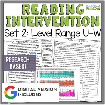 Reading Intervention Program Set 2 Level Range U-W