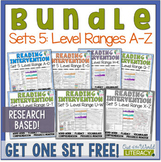 Reading Intervention Program-Bundle for Set Five of Every Level Range!