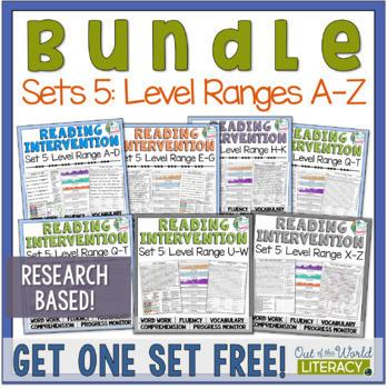Reading Intervention Program Set Five: Level Ranges A-Z  R