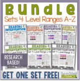 Reading Intervention Program-Bundle for Set Four of Every Level Range!