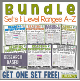 Reading Intervention Program-Bundle for Set One of Every Level Range!