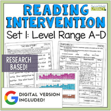 Reading Intervention Program Set 1 Level Range A-D