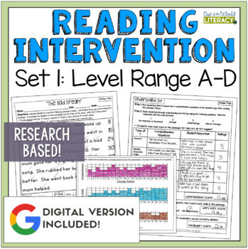 Reading Intervention Program: Set One Level Range A-D RESE