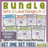 Reading Intervention Program-Bundle for Set Three of Every Level Range!