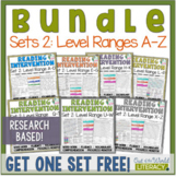 Reading Intervention Program-Bundle for Set Two of Every Level Range!