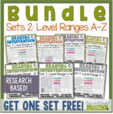 Reading Intervention Program-Bundle for Set Two of Every Level Range!