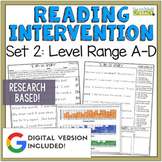 Reading Intervention Program Set 2 Level Range A-D