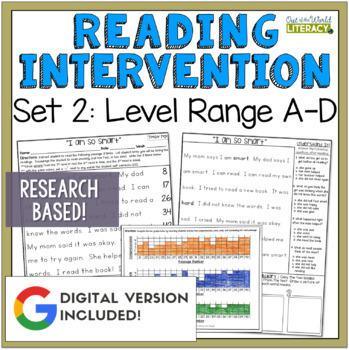 Reading Intervention Program: Set Two Level Range A-D RESE